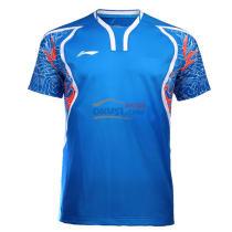 李寧 AAYL131-2 2016里約奧運會羽毛球服 藍色男款