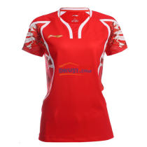 李寧 AAYL124-1 里約奧運國家隊女款羽毛球服 火焰色