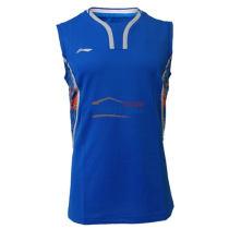 李寧 AVSL045-2 里約奧運國家隊男款無袖背心羽毛球服 藍色