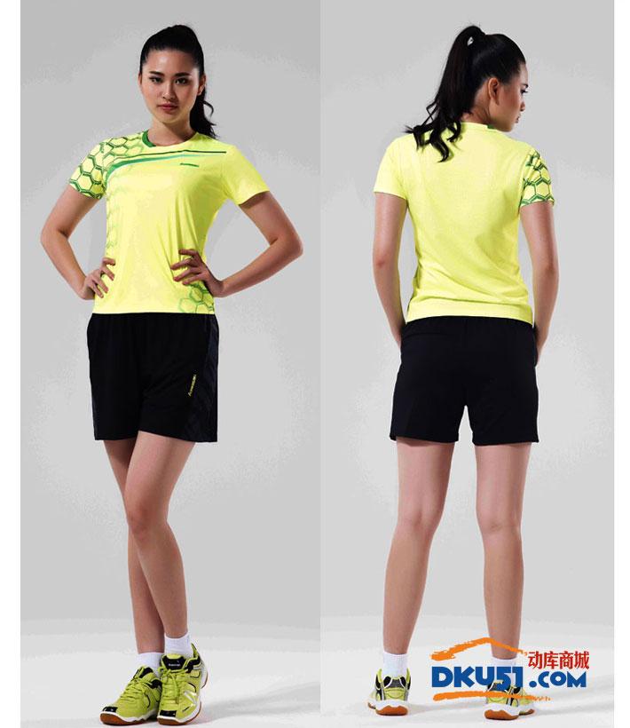 川崎 kawasaki ST-16211 女款羽毛球服 运动T恤 (吸汗速干 聚酯纤维)