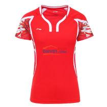 李寧LINING AAYL104-1 焰紅款 奧運會女款羽毛球服TD版