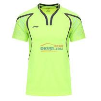 李宁LINING  AAYL121-3  奥运会男款羽毛球服TD版 亮绿款