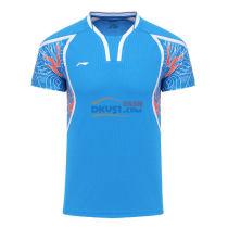 李寧奧運會男款羽毛球服TD版 AAYL121-2 藍色款