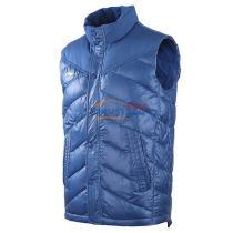 LINING李宁 AMRK037-1 蓝色款 羽绒马甲 轻防风运动服