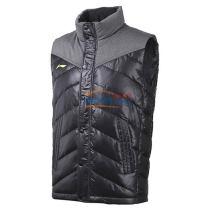 LINING李宁 AMRK037-3 黑色款 羽绒马甲 轻防风运动服