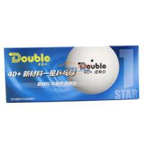 Doubie道勃尔 40+ 新材料一星无缝乒乓球(10只装)