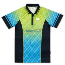 BUTTERFLY蝴蝶 BWH-270-0521 黄蓝色 男女款乒乓球服