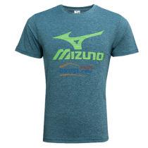 美津浓乒乓球服 32CT7121 乒乓球圆领短袖T恤 松石绿