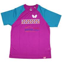 BUTTERFLY蝴蝶 BWH818-1814 红蓝款圆领乒乓球服 运动T恤 2017新品