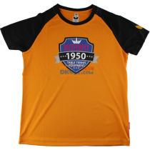 蝴蝶兒童乒乓球服 T恤 CHD-801   橘黑款