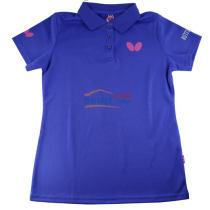 2017新款蝴蝶女款乒乓球服运动T恤 BWH-272-1 蓝色款