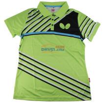蝴蝶女款乒乓球服运动T恤 BWH271-1 绿款 2017新款