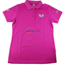 蝴蝶 BWH-272-1 女款乒乓球服 粉色款 2017新款运动T恤