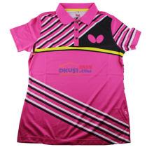 蝴蝶女款乒乓球服 BWH271-1 红款 2017新款运动T恤