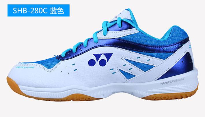 YONEX尤尼克斯 SHB-280CR 白蓝款 男女同款羽毛球鞋 轻质中底 缓压减震