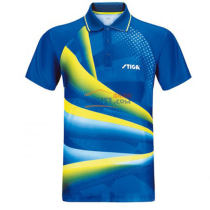 斯帝卡STIGA CA-33161 黄蓝色印花乒乓球比赛服