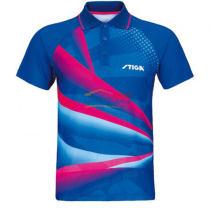 STIGA斯帝卡 CA-33191 紅藍色印花乒乓球比賽服