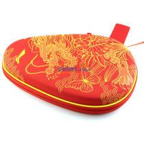 李宁 ABJM086 硬质葫芦拍套 中国龙乒乓球拍套 红色