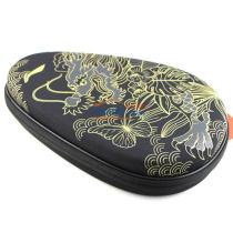 李宁 ABJM086 硬质葫芦拍套 中国龙乒乓球拍套 黑色