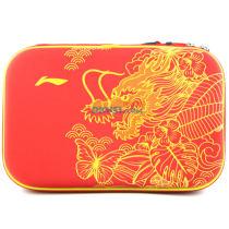 李宁 ABJM112-2 红色款乒乓球龙头方形硬质拍套