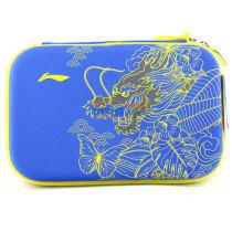 李宁 ABJM112-3 蓝色款乒乓球龙头方形硬质拍套