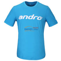 ANDRO 岸度乒乓球运动T恤 302010 天蓝色 纯色印字 简约时尚
