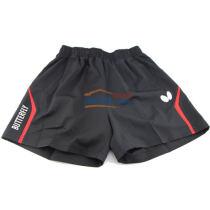 Butterfly蝴蝶乒乓球運動短褲 BWS-327-0201 黑/紅