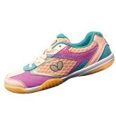 蝴蝶 CHD-2 童鞋 专业儿童乒乓球鞋 粉色