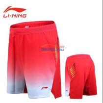 李寧 AAPN005-1 男款國家隊贊助款羽毛球短褲(2018世錦賽亞運會)