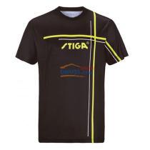 STIGA斯帝卡 GA-36111 黑色款 印花圆领乒乓球服