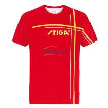 STIGA斯帝卡 GA-36141 紅色款 印花圓領乒乓球服