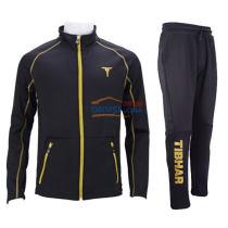 TIBHAR挺拔 01806A 黑金色秋冬款乒乓球套裝服 上衣+長褲
