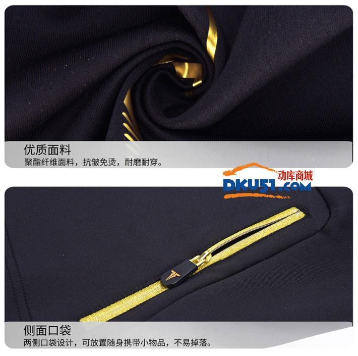 TIBHAR挺拔 01806A 黑金色秋冬款乒乓球套装服 上衣+长裤