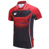 蝴蝶Butterfly BWH-274-0201 红色 新款乒乓球服运动T恤