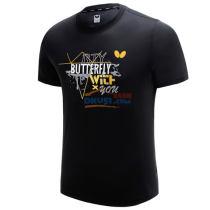蝴蝶Butterfly BWH-826-02 黑色 乒乓球文化衫
