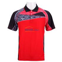 MIZUNO美津濃 82CT8010-62 紅色乒乓球比賽服