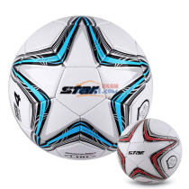 STAR世達 5號球 成人訓練專用足球 合成皮革 藍色款