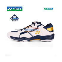 YONEX/尤尼克 SHB610 羽毛球鞋 白/深藍色