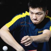 斯帝卡STGA CA-651216 乒乓球運動T恤 藏青色(樊振東同款)
