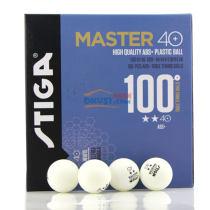STIGA斯蒂卡 40+ 二星 100只装 ABS+新材料乒乓球