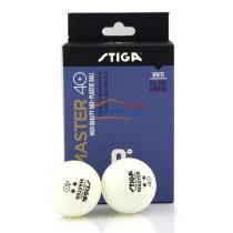 STIGA斯蒂卡 40+ 二星 6只装 ABS+ 新材料乒乓球 大品牌,高质量,高性价比!