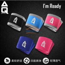 美國AQ F1900 護腕 男運動女瑜伽健身籃球吸擦汗時尚跑步馬拉松裝備護具手腕套