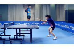 邹阳教你发上旋球抢攻乒乓球技术教学视频: