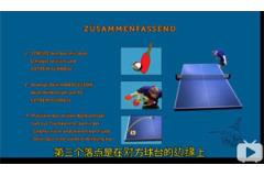 正手发侧旋球的三个重点乒乓球视频教学