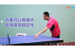 劈长后反拉弧圈球要领的乒乓球视频教学