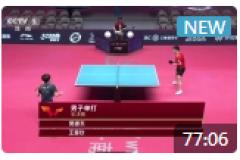 2021WTT世乒赛直通赛男单半决赛视频:樊振东VS王楚钦