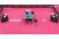 2021奥运乒乓球热身赛混双打男双视频:许昕刘诗雯VS薛飞孙闻