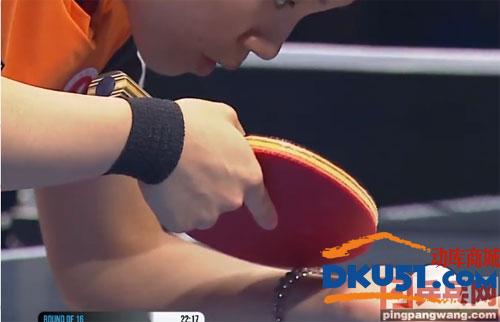 杜凱琹使用乒乓球拍